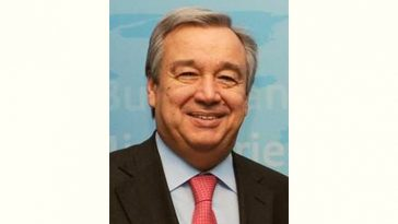 António Guterres Age and Birthday