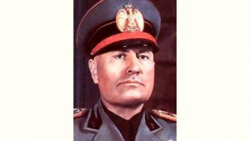 Benito Mussolini Age and Birthday