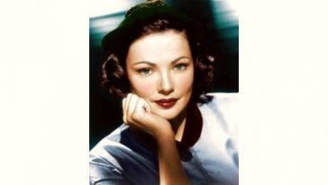 Gene Tierney Age and Birthday