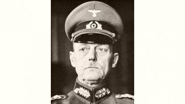Gerd von Rundstedt Age and Birthday