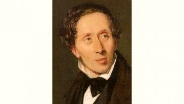 Hans Christian Andersen Age and Birthday