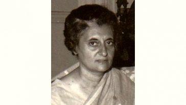 Indira Gandhi Age and Birthday