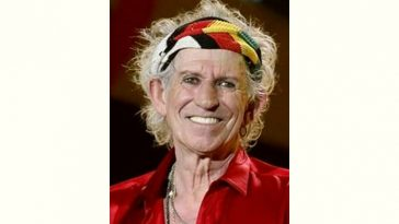 Keith Richards Age and Birthday