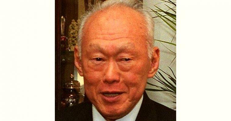 Lee Kuanyew Age and Birthday