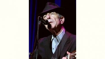 Leonard Cohen Age and Birthday