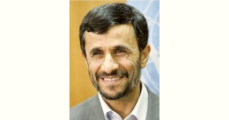Mahmoud Ahmadinejad Age and Birthday