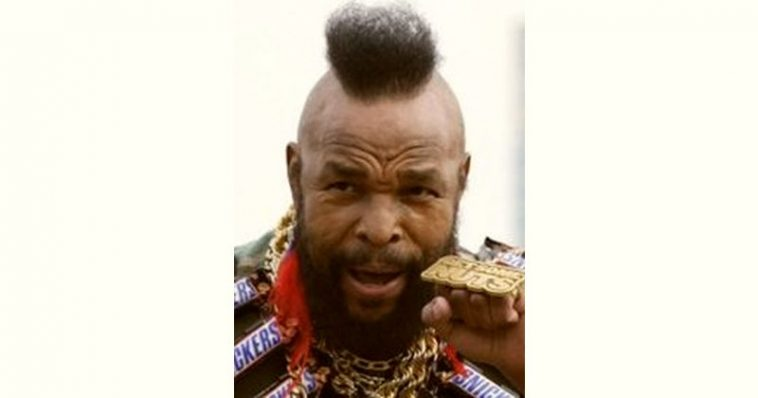 Mr. T Age and Birthday