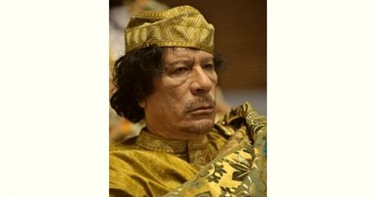 Muammar Gaddafi Age and Birthday